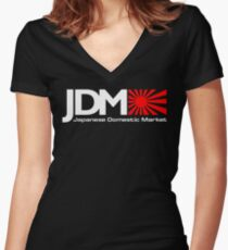 Japanese domestic market JDM Women's Fitted V-Neck T-Shirt
