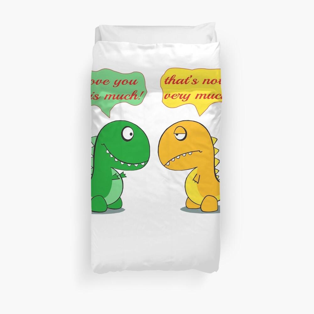 Ich liebe dich dieses viel lustige T-Rex Bettbezug