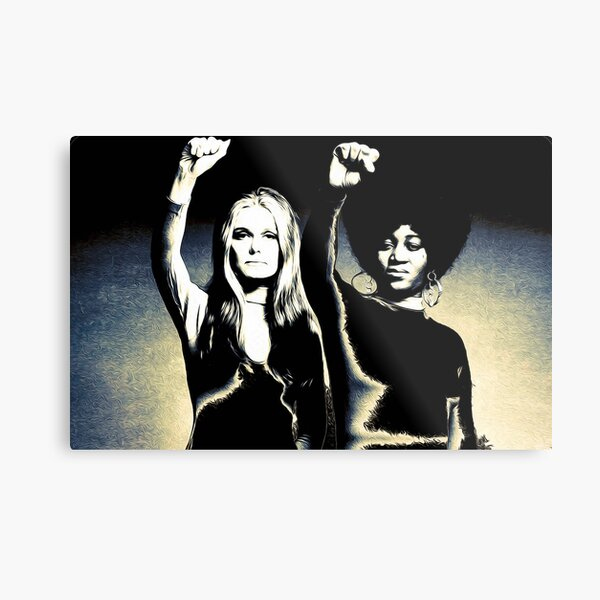 Gloria Steinem and Dorothy Pitman-Hughes, 1972  Metal Print