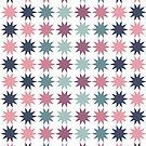 Pink & Blue Stars by Annie Webster