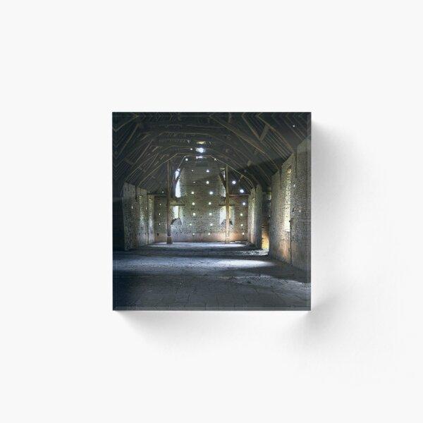 Tithe Barn Interior Acrylic Block