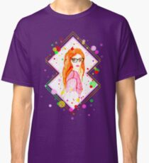 Red head girl with glasses  Classic T-Shirt