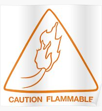 Caution flammable Poster
