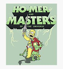 Ho-Mer And The Masters Of The Universe Photographic Print