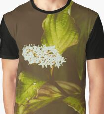 White wildflower Graphic T-Shirt