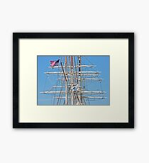 Spars And Masts Framed Print