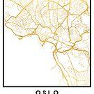 OSLO NORWAY CITY STREET MAP ART by deificusArt