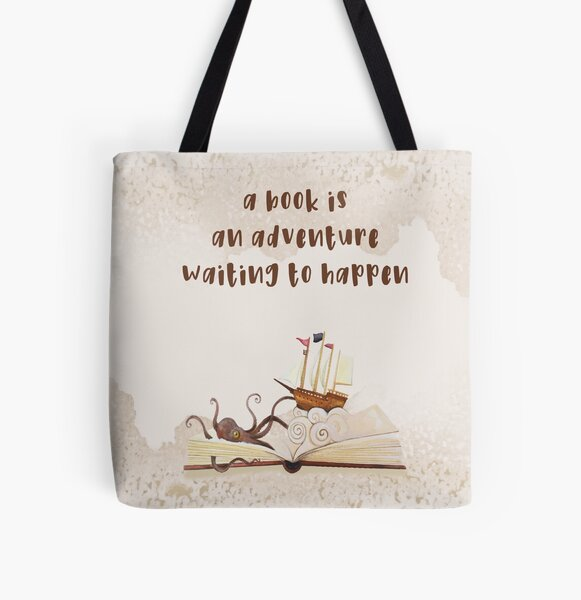 A Book is an adventure waiting to happen All Over Print Tote Bag