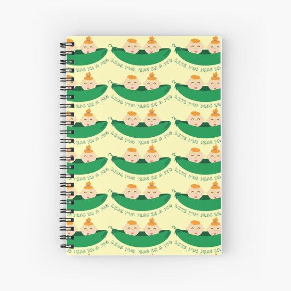 Peas in a Pod (boy/girl twins) Spiral Notebook