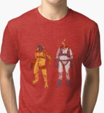 Earthworm Jim & Psycrow Tri-blend T-Shirt