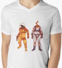 Earthworm Jim & Psycrow Men's V-Neck T-Shirt