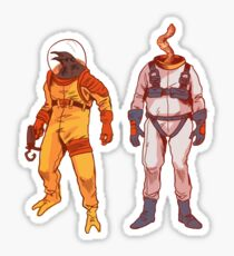 Earthworm Jim & Psycrow Sticker
