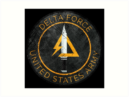 Delta Force Vintage Insignia Art Prints By Lidra Redbubble