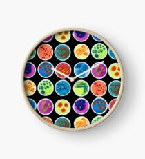 Petri Dishes  Clock