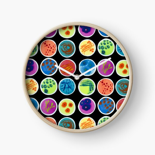 Petri Dishes  Clock