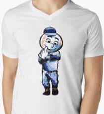 Mr. Met Middle Finger Men's V-Neck T-Shirt