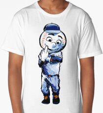 Mr. Met Middle Finger Long T-Shirt