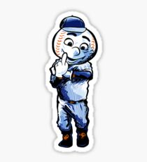 Mr. Met Middle Finger Sticker