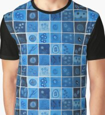 Blue Virus  Graphic T-Shirt