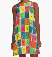 Big Bright Bacteria  A-Line Dress