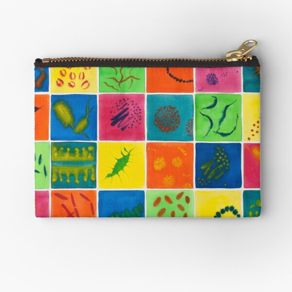 Big Bright Bacteria  Zipper Pouch