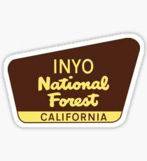 INYO NATIONAL FOREST CALIFORNIA YOSEMITE DEATH VALLEY NATIONAL PARK SIERRA NEVADA Sticker