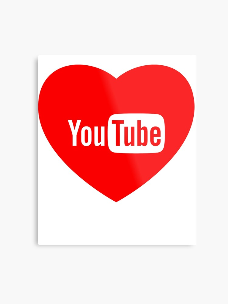 Youtube Logo Love red | Metal Print
