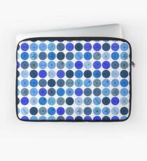 Blue Neuron Dots  Laptop Sleeve