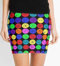 Black Neuron Dots  Mini Skirt