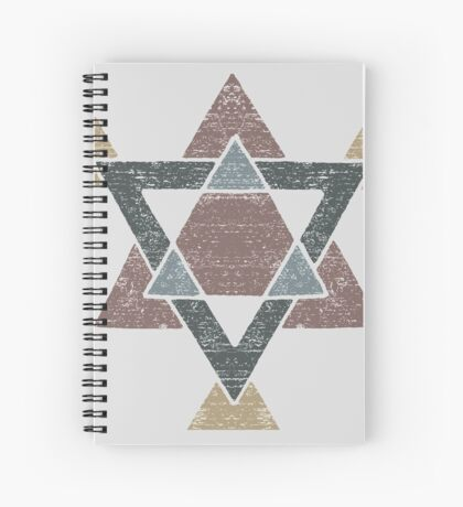 Abstract Western Tribal Geometry with Earth Tones Spiral Notebook