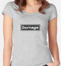 Burnage - OASIS Band Tribute Women's Fitted Scoop T-Shirt