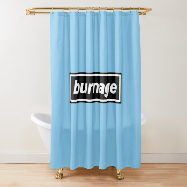 Burnage - OASIS Band Tribute Shower Curtain