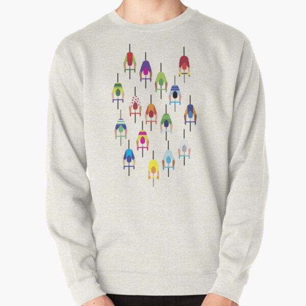 The peloton – a large group of cyclists. Pullover Sweatshirt