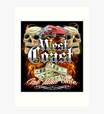 West Coast Skull Art Print