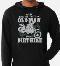 An Old Man With A Dirt Bike Lightweight Hoodie