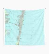Seaside Park & NJ Shore Map (1989)  Wall Tapestry