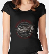 aeroplane ride, vintage, fly tee shirt, graphic Women's Fitted Scoop T-Shirt