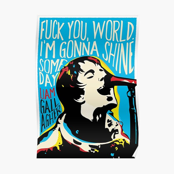 Liam Gallagher Citation Portrait Poster