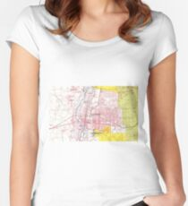 Albuquerque New Mexico Map (1798) Women's Fitted Scoop T-Shirt