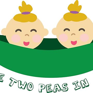 Peas in a Pod (girl/girl twins) by twinsmagazine