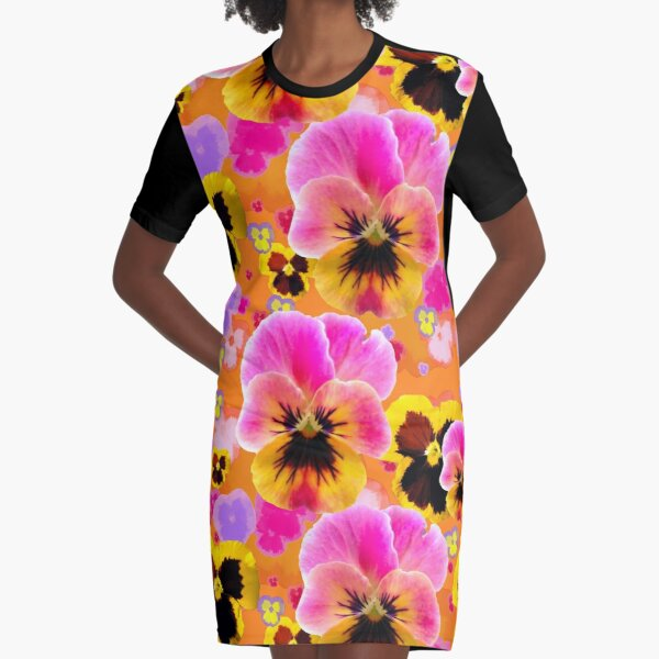 Pansy Party! Graphic T-Shirt Dress
