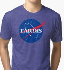 Dr Who Tardis T-Shirt Tri-blend T-Shirt
