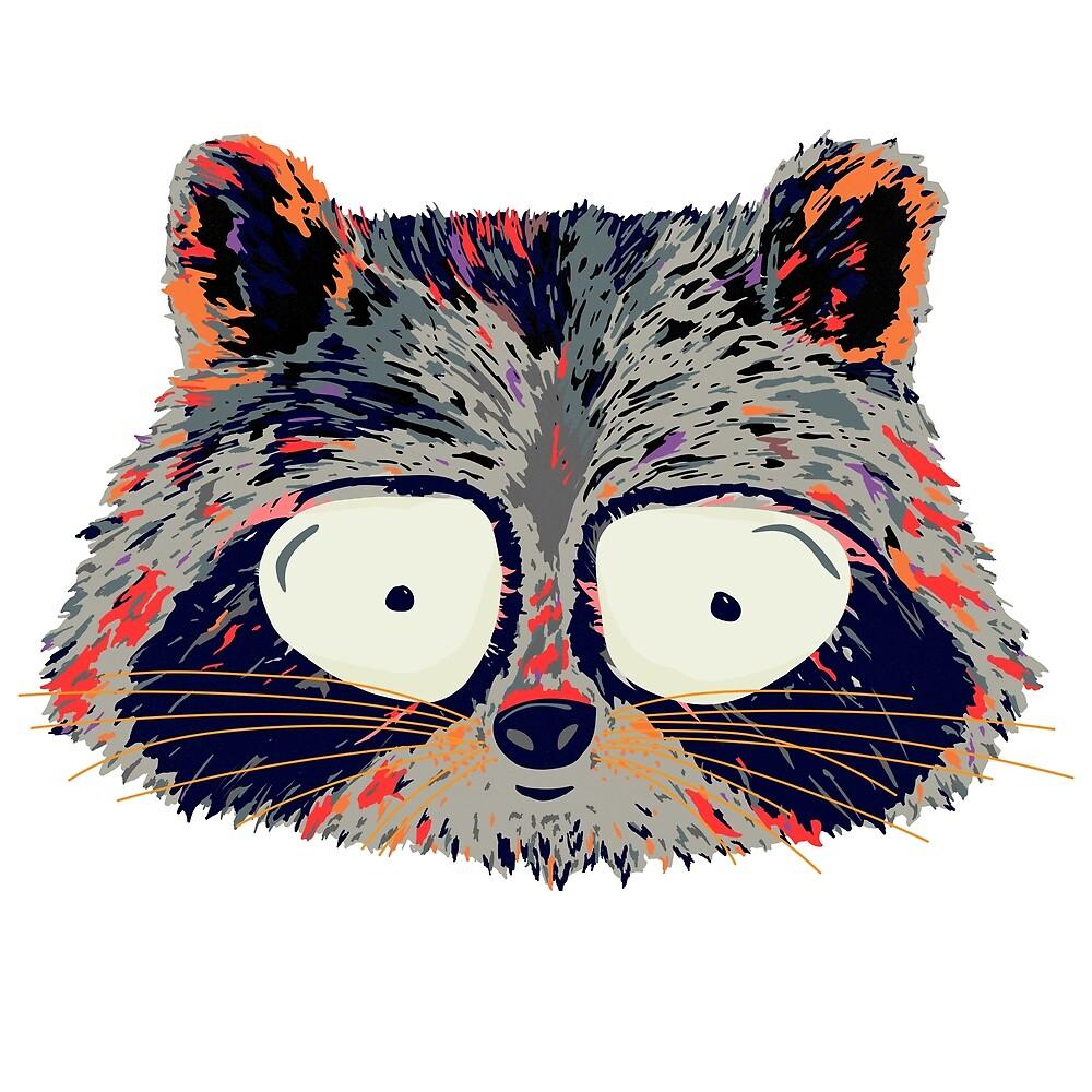 Cartoon Raccoon  by weirdbird