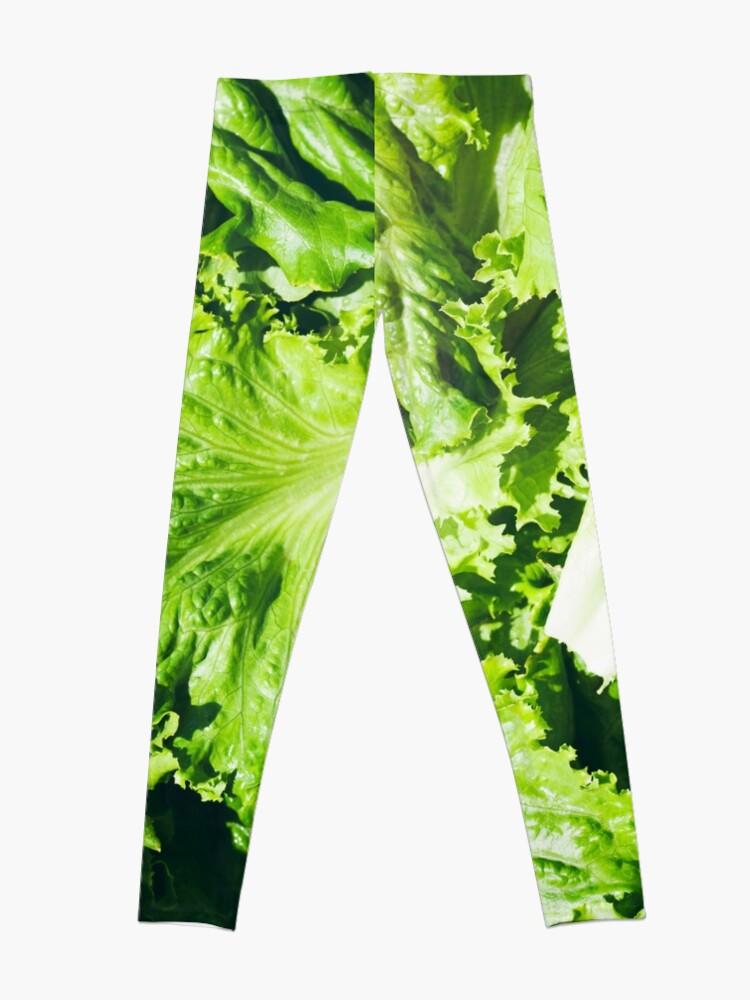 Alternate view of Ingredients: Overhead View Of Leaves Of Green Leaf Lettuce Leggings