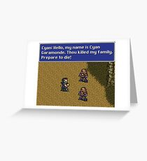Prepare to Die Greeting Card