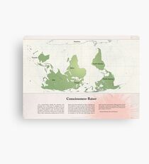 Consciousness-Raiser | South-Up Cartography  Canvas Print