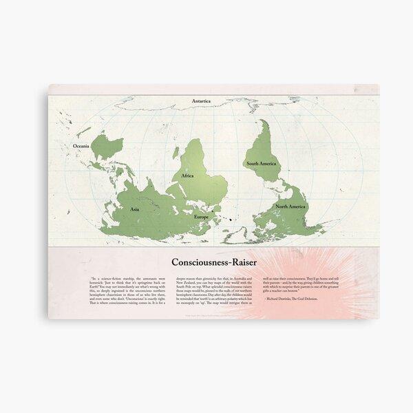 Consciousness-Raiser   South-Up Cartography  Canvas Print