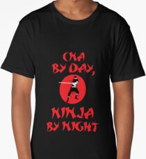 CNA By Day Ninja Night Long T-Shirt