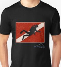 Diver Down Flag with Diver Image 3 T-Shirt
