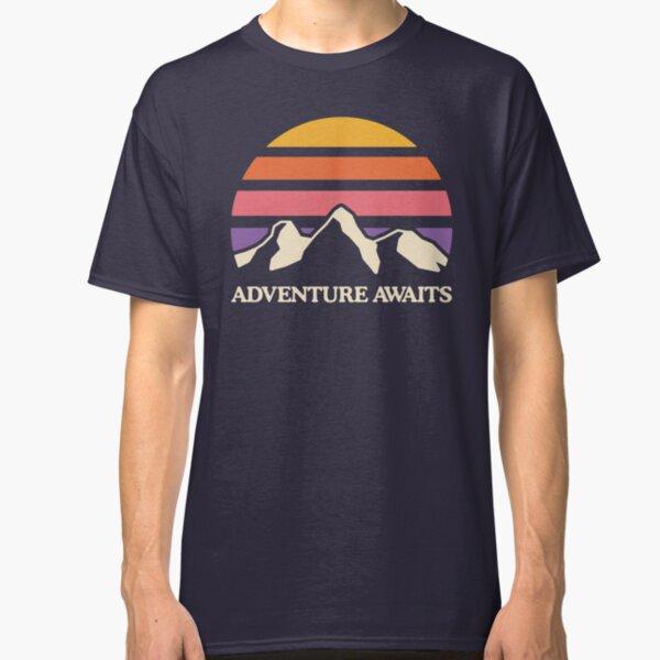 Adventure Awaits   Mountain Sun Classic T-Shirt